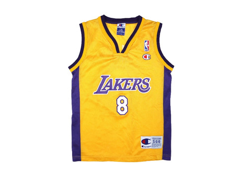 1418fae1fa2e Vintage Champion NBA Los Angeles Lakers Kobe Bryant Jersey Youth Size Small