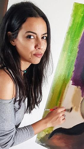 The Artist painter Nahla Nofal, Nahlaincolors official website