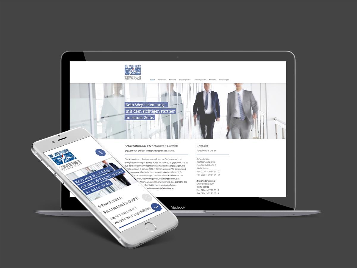 Website Rechtsanwalts-GmbH Schwedtmann