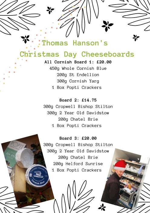 Thomas Hanson's Christmas Day Cheeseboard