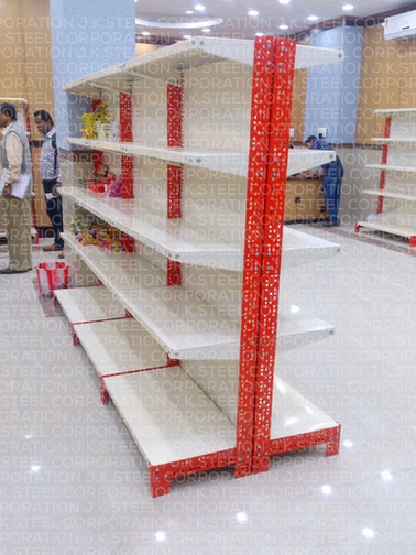 Slotted Angle Display Racking - Double Face Units