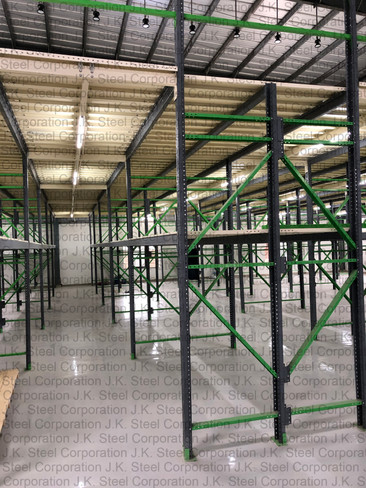2 Tier Heavy Duty Racking with Mezzanine Floor