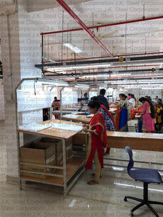 Checking Tables with Soft Board & Lighting arrangement (Textile Industry)
