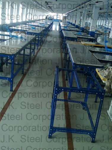 Slotted Angle Work Table with SS Top