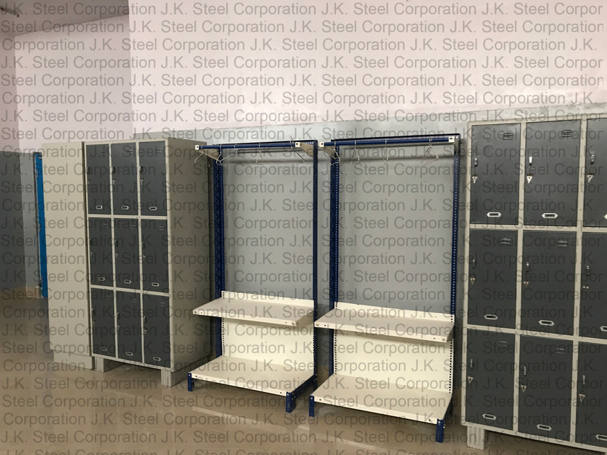 9 Locker Cabinets with Clothes Hanging Racks