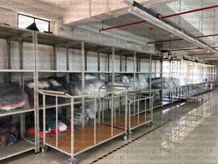 Flat Fold / Fabric Feeding Trolley with (Textile Industry)