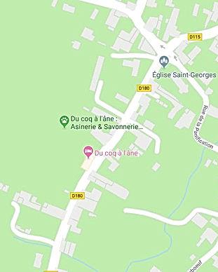 Plan d'acce Marais Poitevin pour aller chez Du Coq à l'âne Savonnerie artisanale au lait frais d'ânese