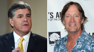 Sean Hannity and Kevin Sorbo making movie magic together