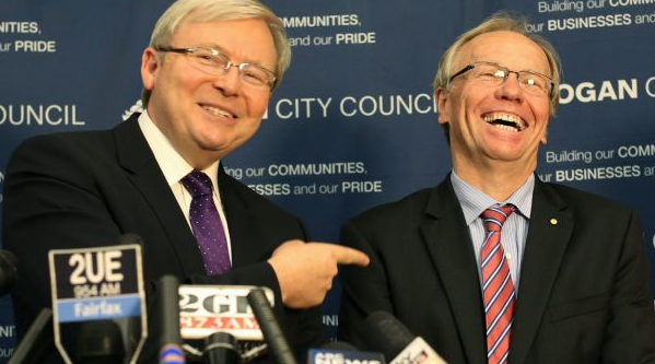 Rudd dares Beattie to pull his finger