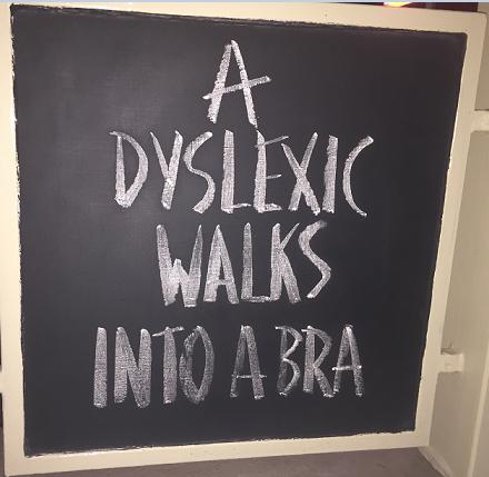 Offensive blackboard art