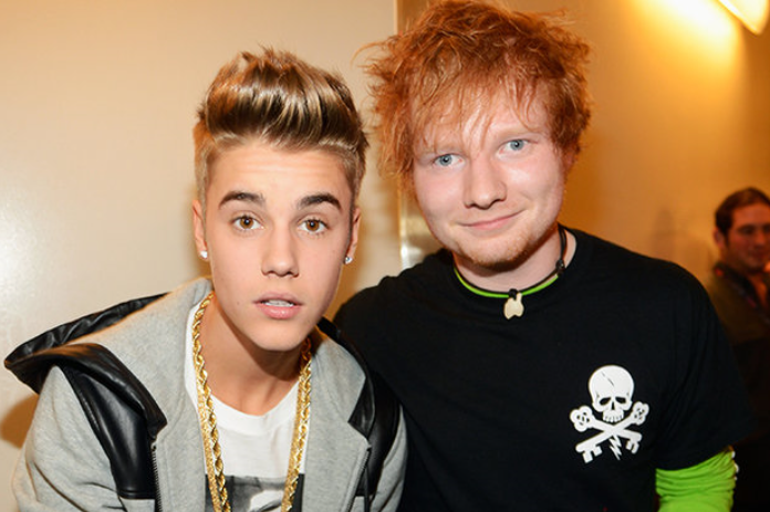 Kings of the 'almost rhyme', Bieber and Sheeran