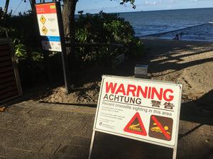 Warning sign at Trinity Beach
