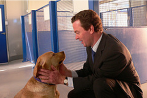 Christopher Pyne with Moses