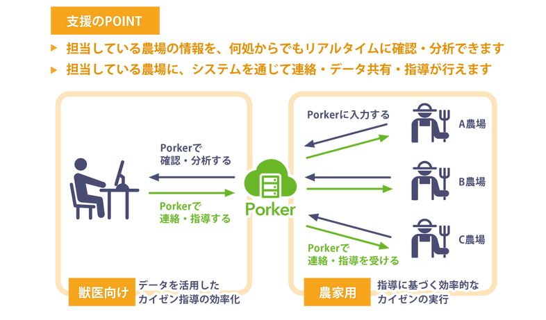 支援のポイントの図