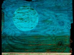 Tar Landscape w/ Deepening Blue Sky
