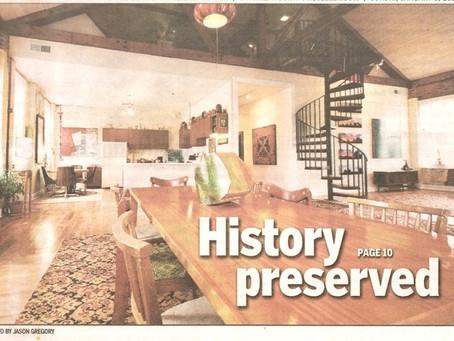 Herald Leader: Logsdon Preservation Efforts and Art Showcased