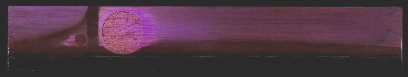 wood - Tar Landscape with Violet Sky. 6 by 34 inches.cr.jpg