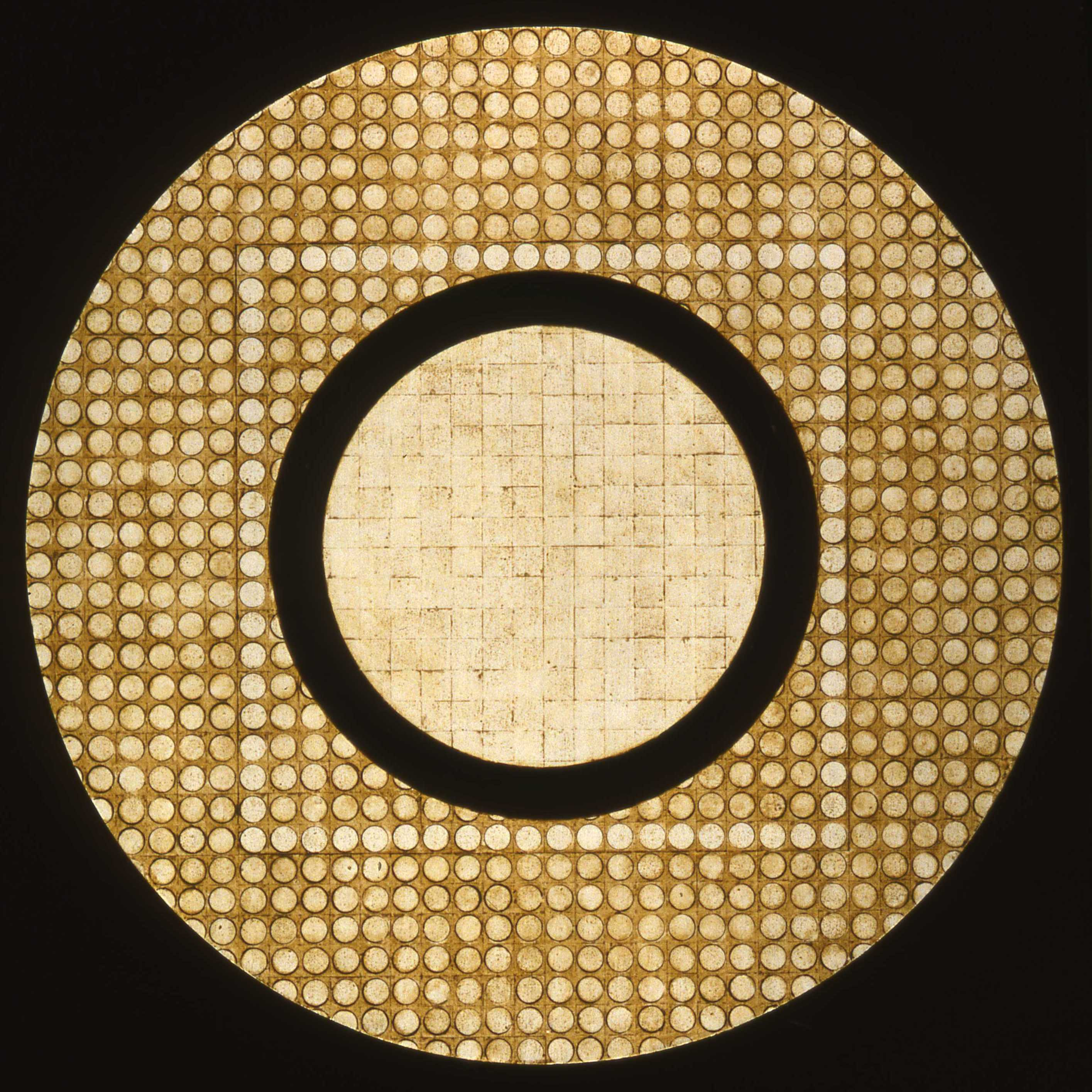 Marco Logsdon, Circle Painting #1, Oil,Tar,Beeswax on Hardboard..jpg