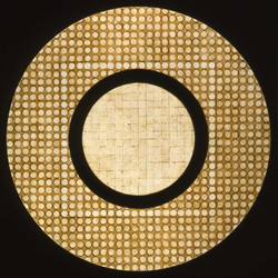 Marco Logsdon, Circle Painting #1, Oil,Tar,Beeswax on Hardboard..jpg