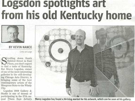 Chicago Sun Times: Logsdon spotlights art from his old Kentucky home