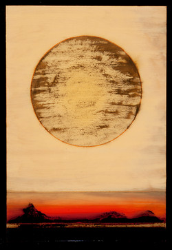 Marco Logsdon. Untitled 3714. Oil, Tar and Resin on Wood. 16 by 20 inches..jpg