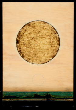 Marco Logsdon. Untitled 3614. Oil, Tar and Resin on Wood. 16 by 20 inches..jpg