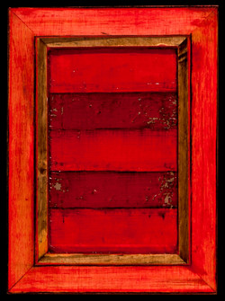 Marco Logsdon. 4 by 6. Red. 1 Oil and Tar on Balsa Wood in Ikea Frame..jpg