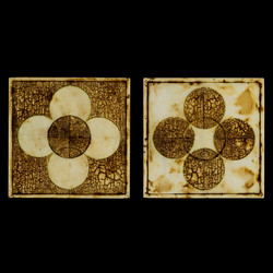 Marco Logsdon. Untitled 3108. Oil, Tar, Beeswax on Wood. 6 inches square each..j