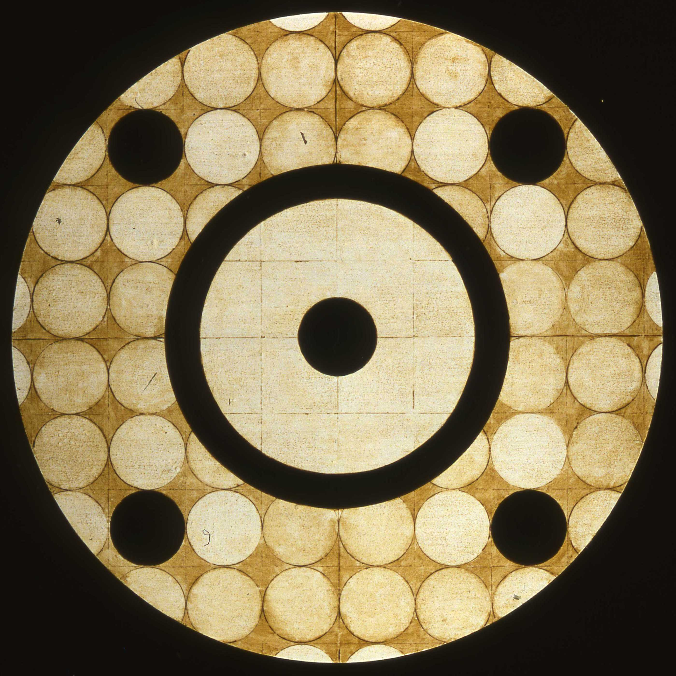Marco Logsdon, Circle Painting #4, Oil,Tar,Beeswax on Hardboard, 34 in. diameter