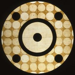 Marco Logsdon, Circle Painting #4, Oil,Tar,Beeswax on Hardboard, 34 in. diameter