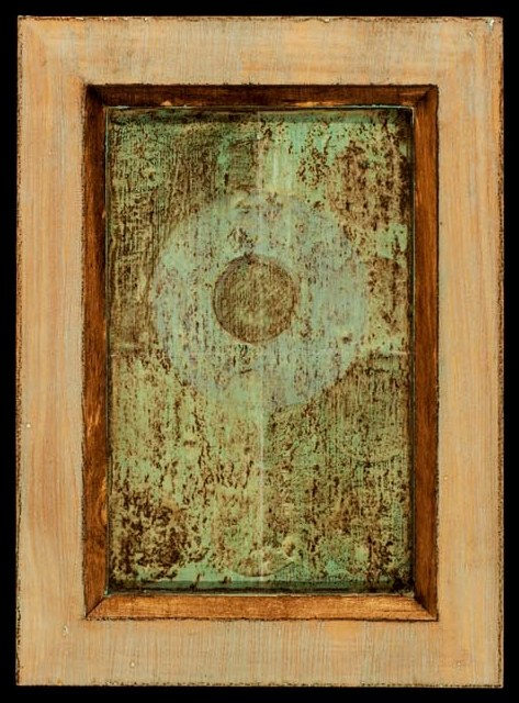 Marco Logsdon. 4 by 6. Blue. 3. Oil and Tar on Balsa Wood in Ikea Frame..jpg