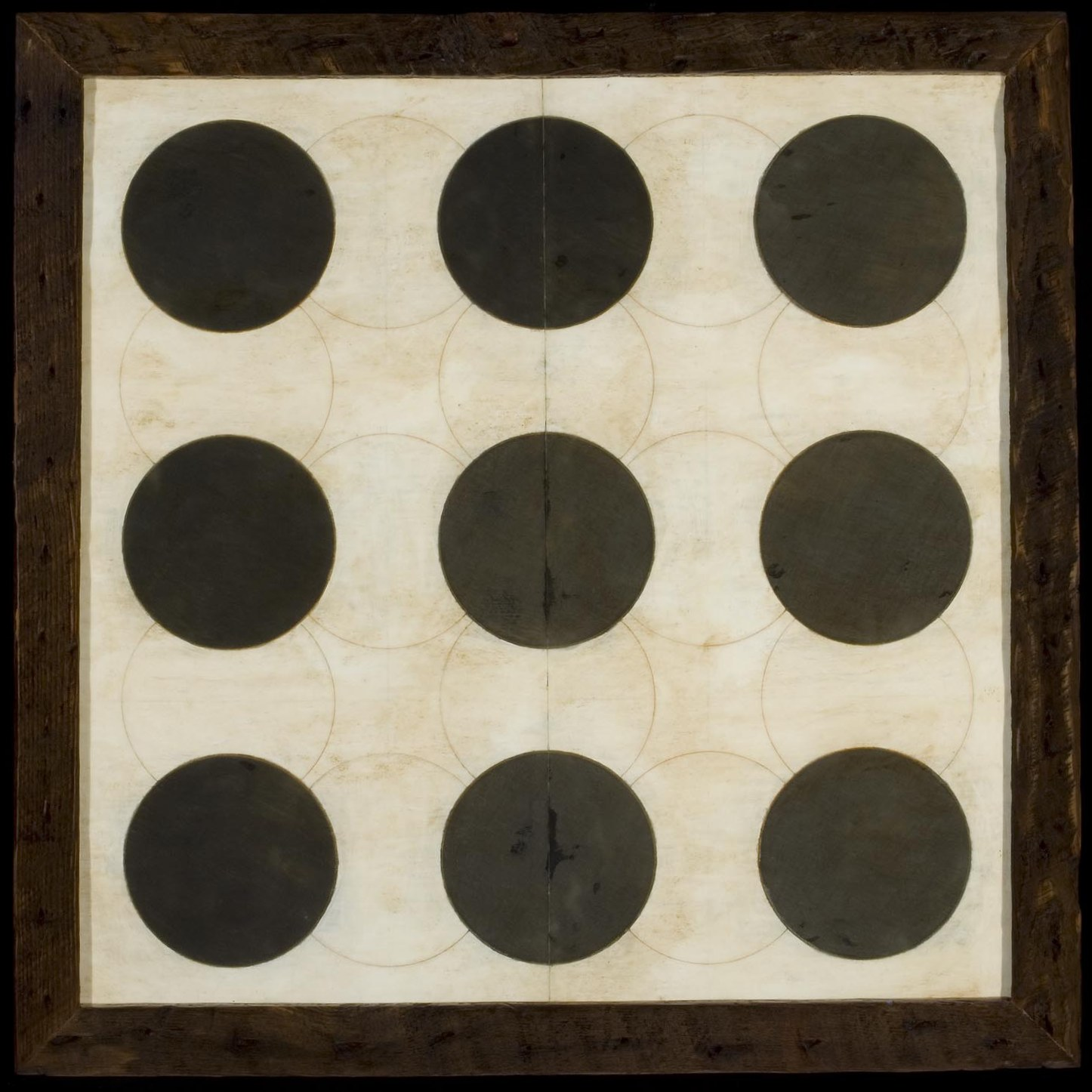 Marco Logsdon.Untitled 2608. Pencil, tempera, beeswax on Paper. 30 inches square
