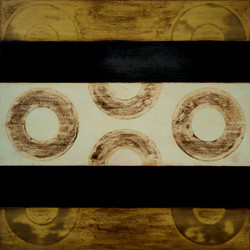 Marco Logsdon. Untitled 5314. Oil, Tar, Beeswax on Panel. 48 inches square.