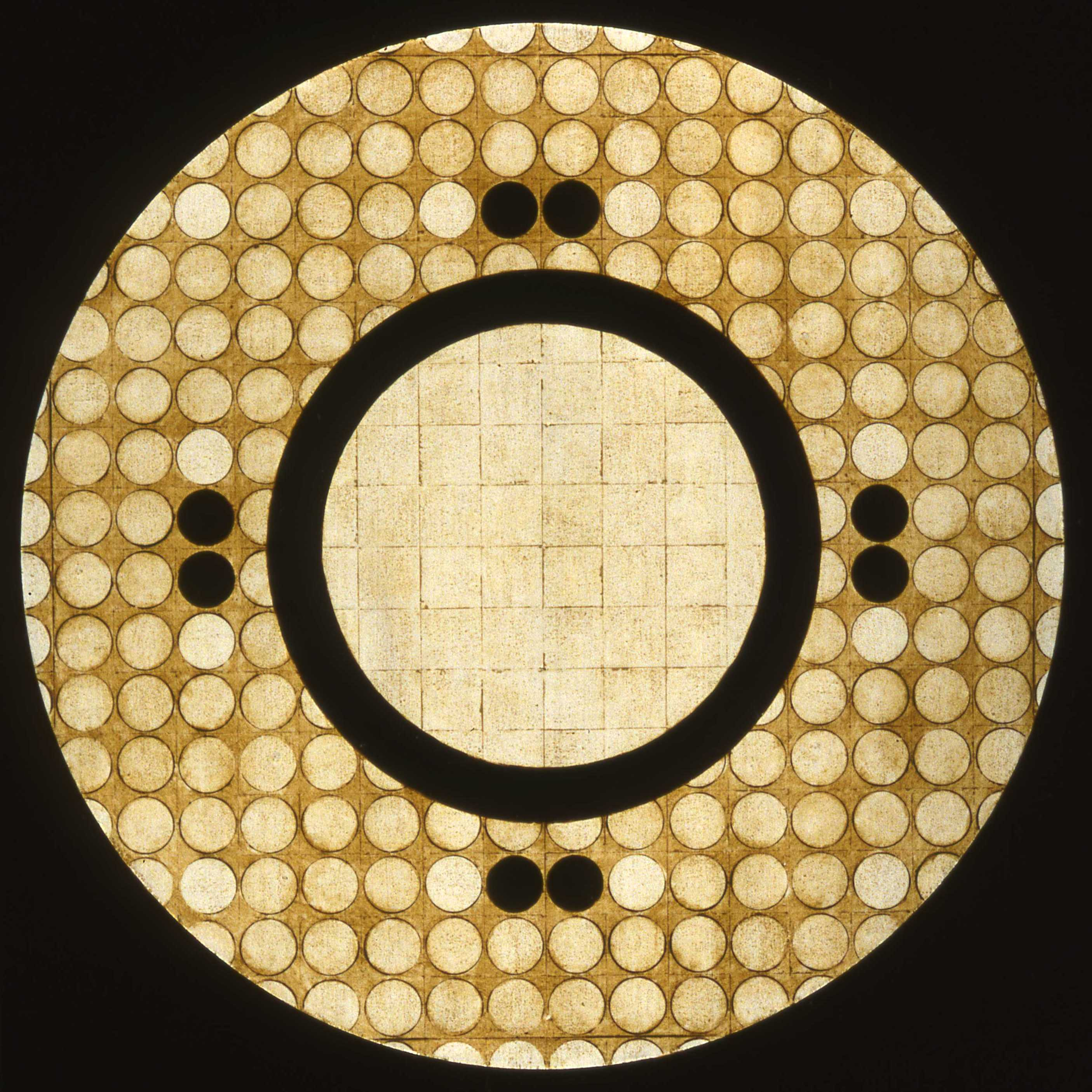 Marco Logsdon, Circle Painting #2, Oil,Tar,Beeswax on Hardboard..jpg