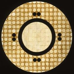 Marco Logsdon, Circle Painting #2, Oil,Tar,Beeswax on Hardboard..jpg