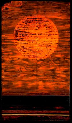 Tar Landscape with Orange Sky