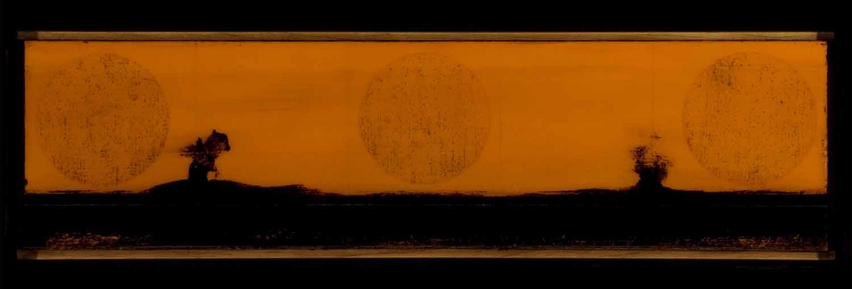 Tar Landscape orange sky (3 moons)