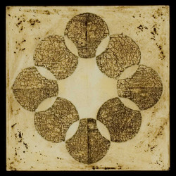 Marco Logsdon. Untitled 1608 b. Oil, Tar, Beeswax on Panel. 12 inches square..jp