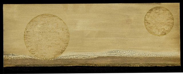 wood - Small Landscape with 2 Moons.  19 by 9 inches. web.jpg