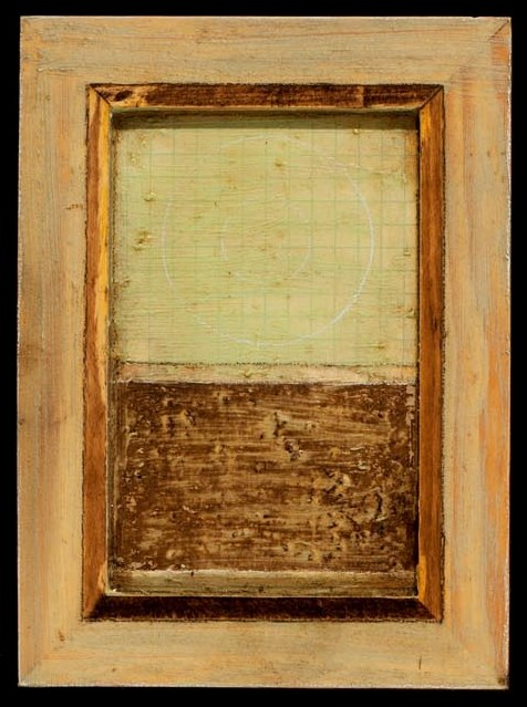 Marco Logsdon. 4 by 6. Blue. 1. Oil and Tar on Balsa Wood in Ikea Frame..jpg