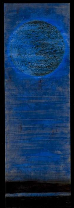 wood - Marco Logsdon. Tar Landscap with Dark Blue Sky. 9 by 25 inches. web.jpg