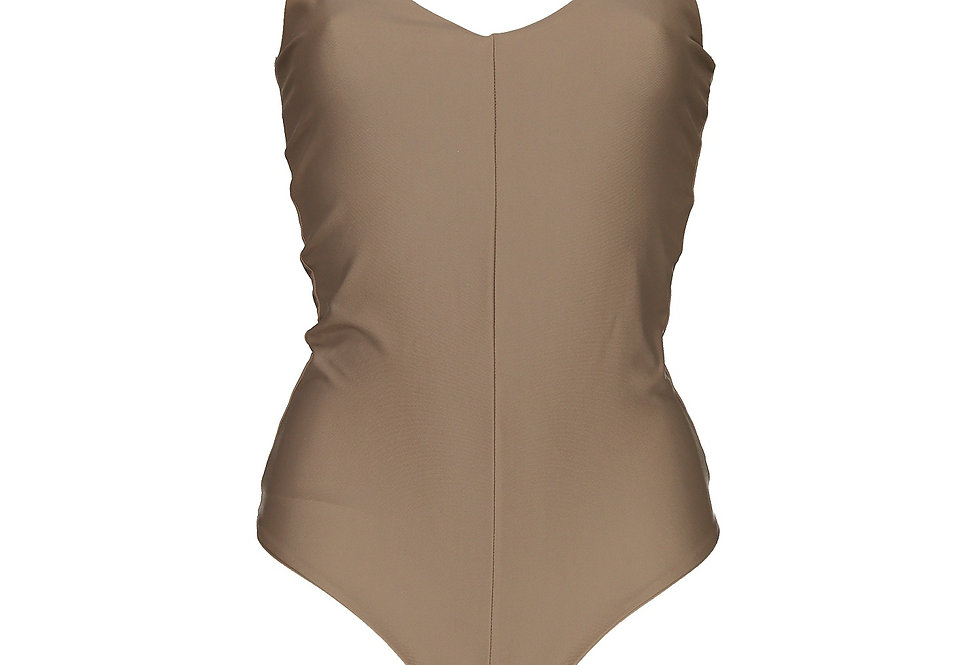 TIMELESS BROWN SWIMSUIT