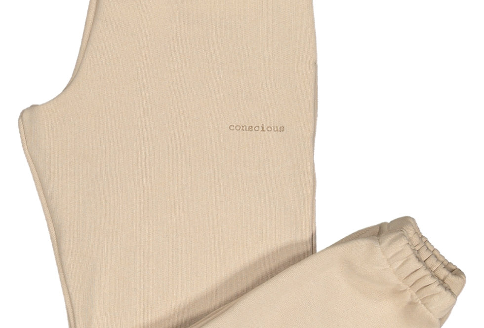 ORGANIC COTTON TRACKPANTS IN MOCCA