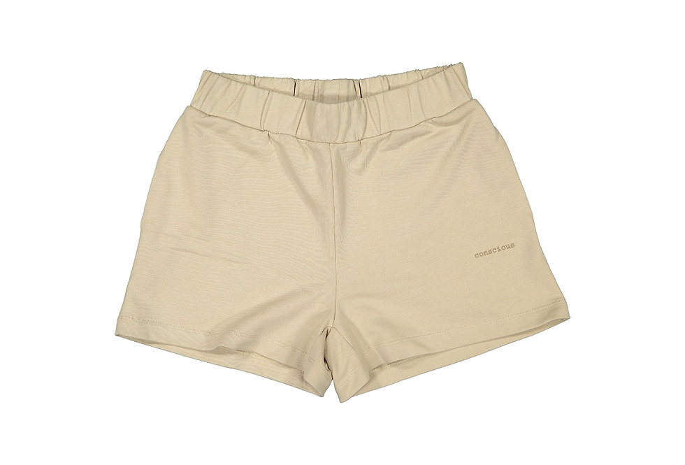 ORGANIC COTTON SHORTS IN MOCCA