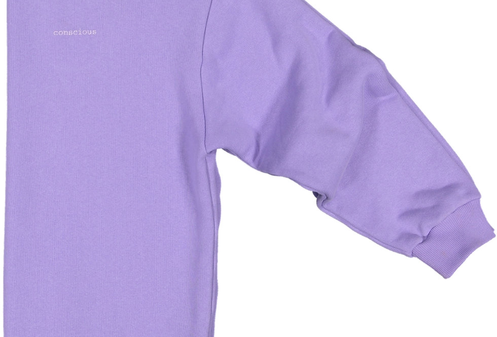 ORGANIC COTTON SWEATSHIRT IN FRESH LILAC