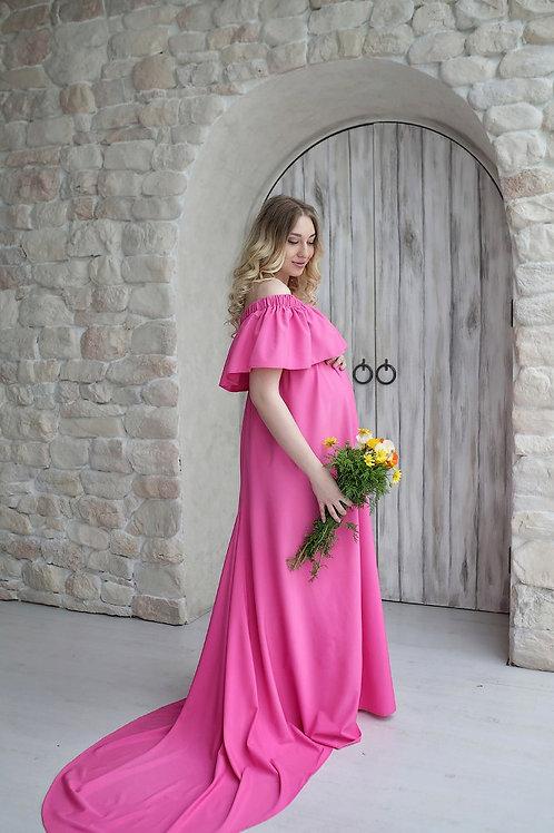 Платье фукси