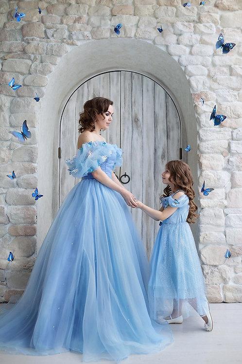 №39 Платье Золушка(взрослое и детское)