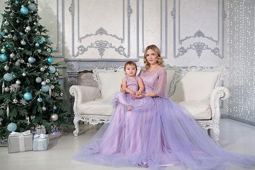№52 платье лиловое