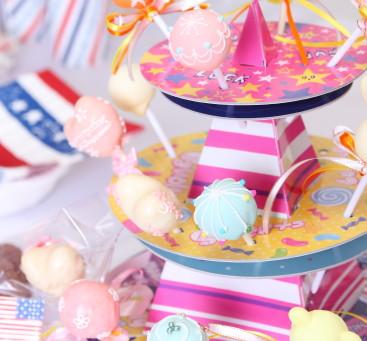 貝印株式会社「ケーキポップス型」「ポップなデコレーションタワー」パッケージ写真