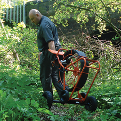 User on-site with All Terrain Wheels